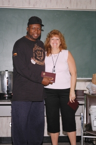 NMIAI Jun 09 Graduation: Ernest Green with Elaine Preto.