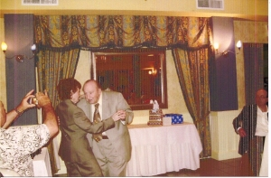 Mr and Mrs Angelo, Pete, Pietronigro dancing on his 90th Birthday Celebration. photo taken by Sal Grasso