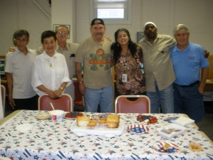 Leslie Monsen, VA Regional Counselor surprised the veterans with cake & fruit to celebrate July 4th Holiday!
